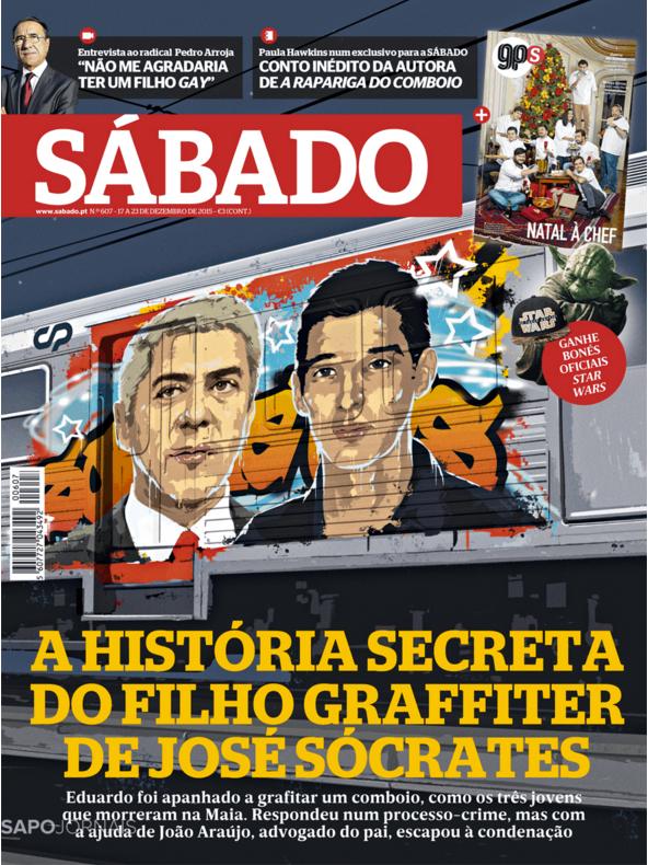 A capa da revista Sábado de 17 de dezembro de 2015