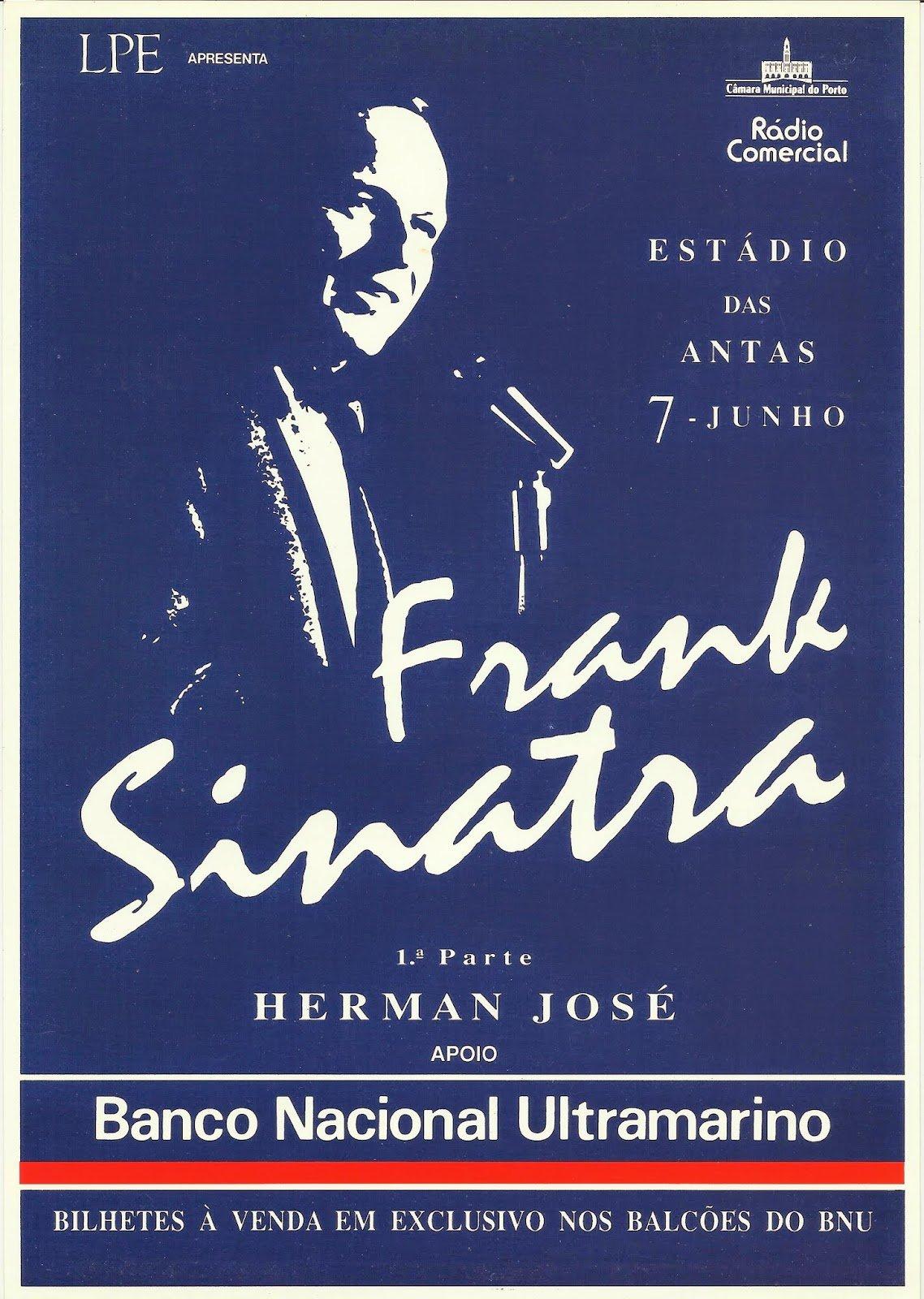 cartaz do concerto de sinatra no porto_ foto de Fernando Peixoto Correia