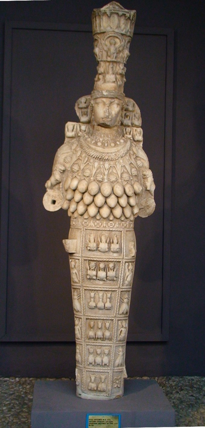 Cópia romana do século I d.C. da estátua de Ártemis no Templo de Éfeso