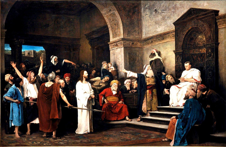 Cristo perante Pilatos. Mihály Munkácsy, 1881