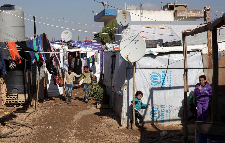 Crianças no campo de refugiados de Moussa Al Jassem. (18 de novembro de 2015) .NUNO VEIGA/LUSA