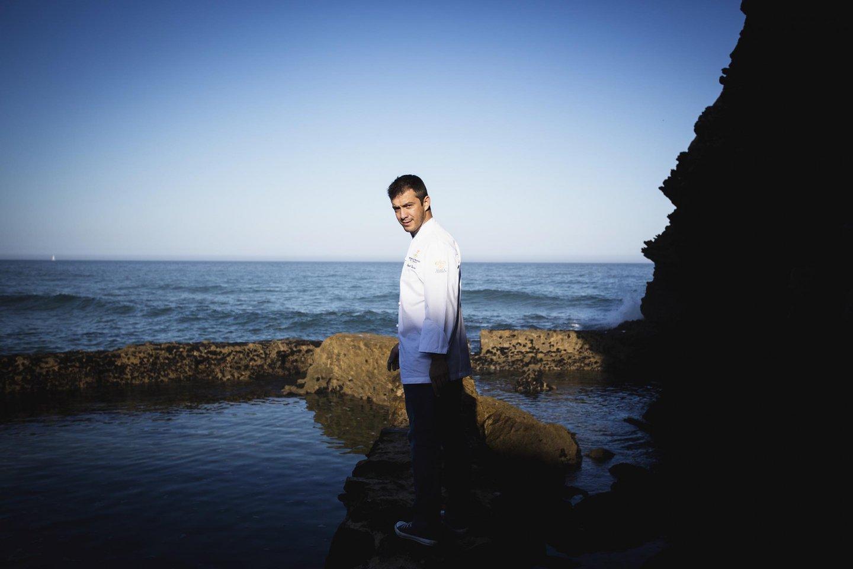 Miguel Vieira, o chef executivo da Fortaleza do Guincho, Cascais. Foto- Paulo Barata