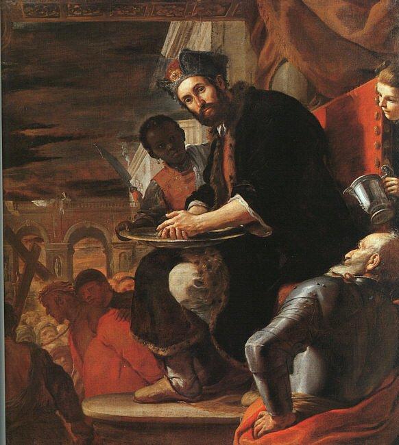 Pôncio Pilatos dá o julgamento por encerrado. Mattia Preti, 1663