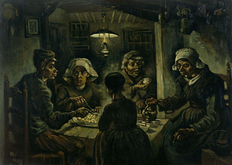 """Os Comedores de Batatas de Van Gogh (1885), obra que vai marcar, entre outras, a obra do cineasta húngaro Bela Tarr, """"O Cavalo de Turim"""""""