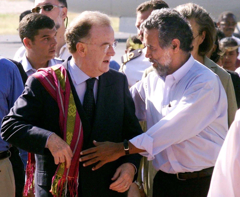 INDEPENDENCE, Jorge Sampaio durante à chegada para as cerimónias da independência de timor