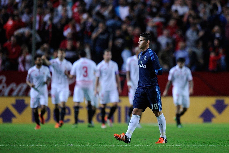 <> at Estadio Ramon Sanchez Pizjuan on November 8, 2015 in Seville, Spain.