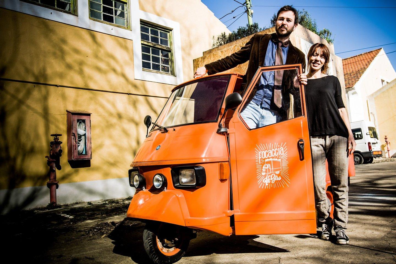 Enrico e Angélica, fundadores da Focaccia in giro