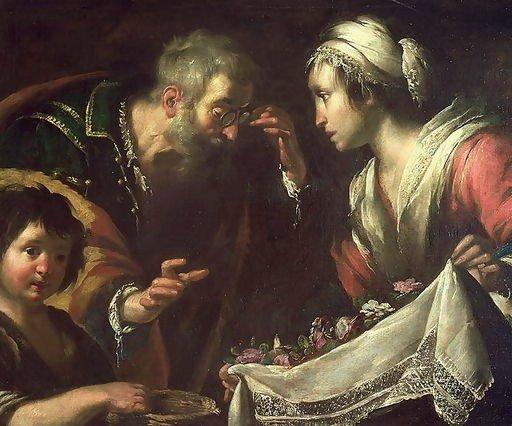 O milagre de Santa Zita, por Bernardo Strozzi (1581-1644)