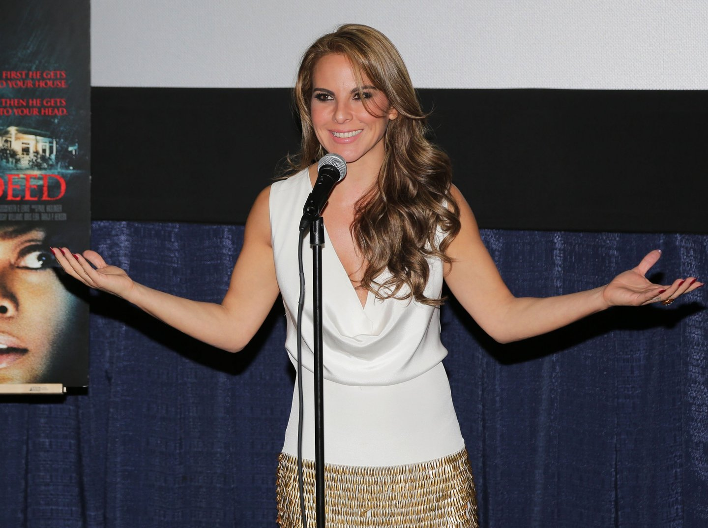 MIAMI, FL - SEPTEMBER 04: Kate Del Castillo makes an appearance at the 'No Good Deed' movie screening on September 4, 2014 in Miami, Florida. (Photo by Alexander Tamargo/Getty Images for THAmas/Screen Gems)