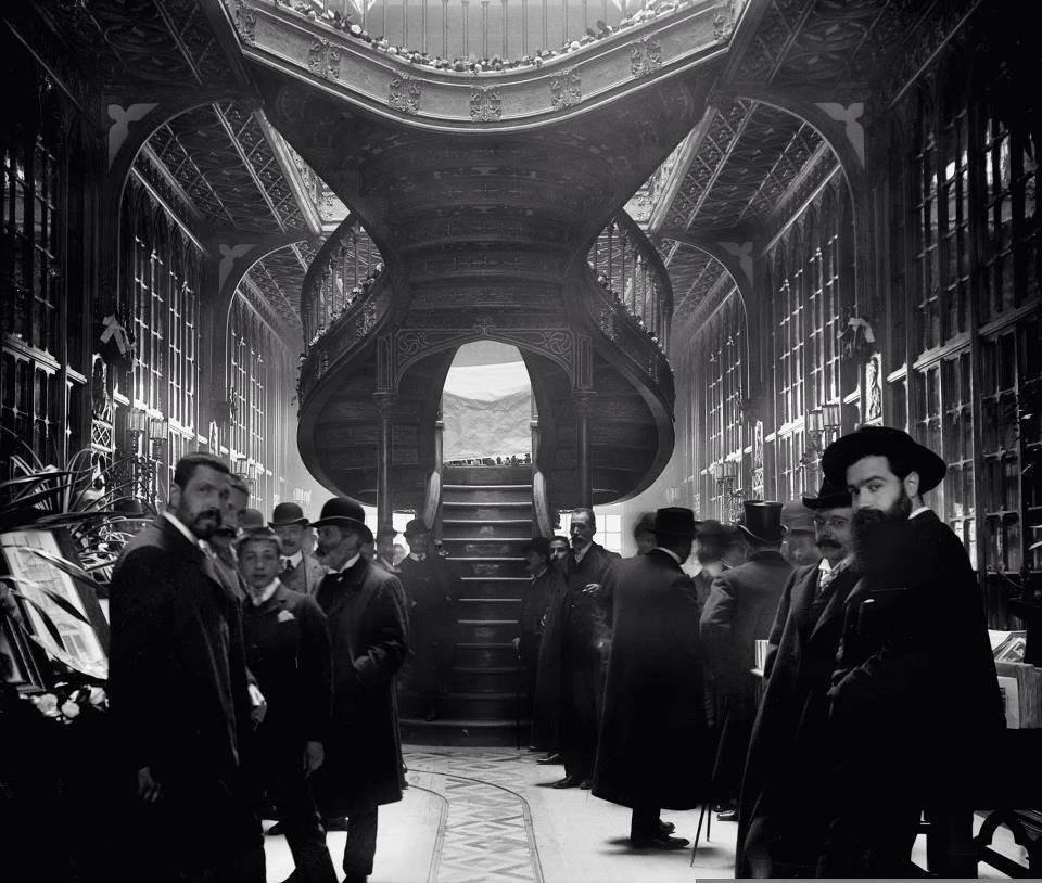 inauguracao livraria lello foto Aurelio Paz dos Reis