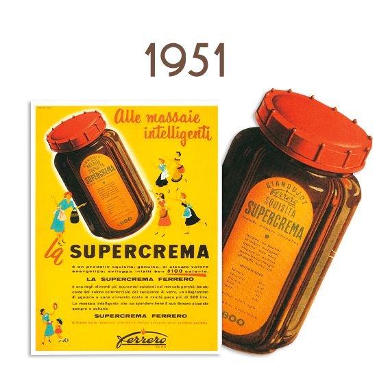 Em 1951 passou a chamar-se Supercrema em www.nutella.com
