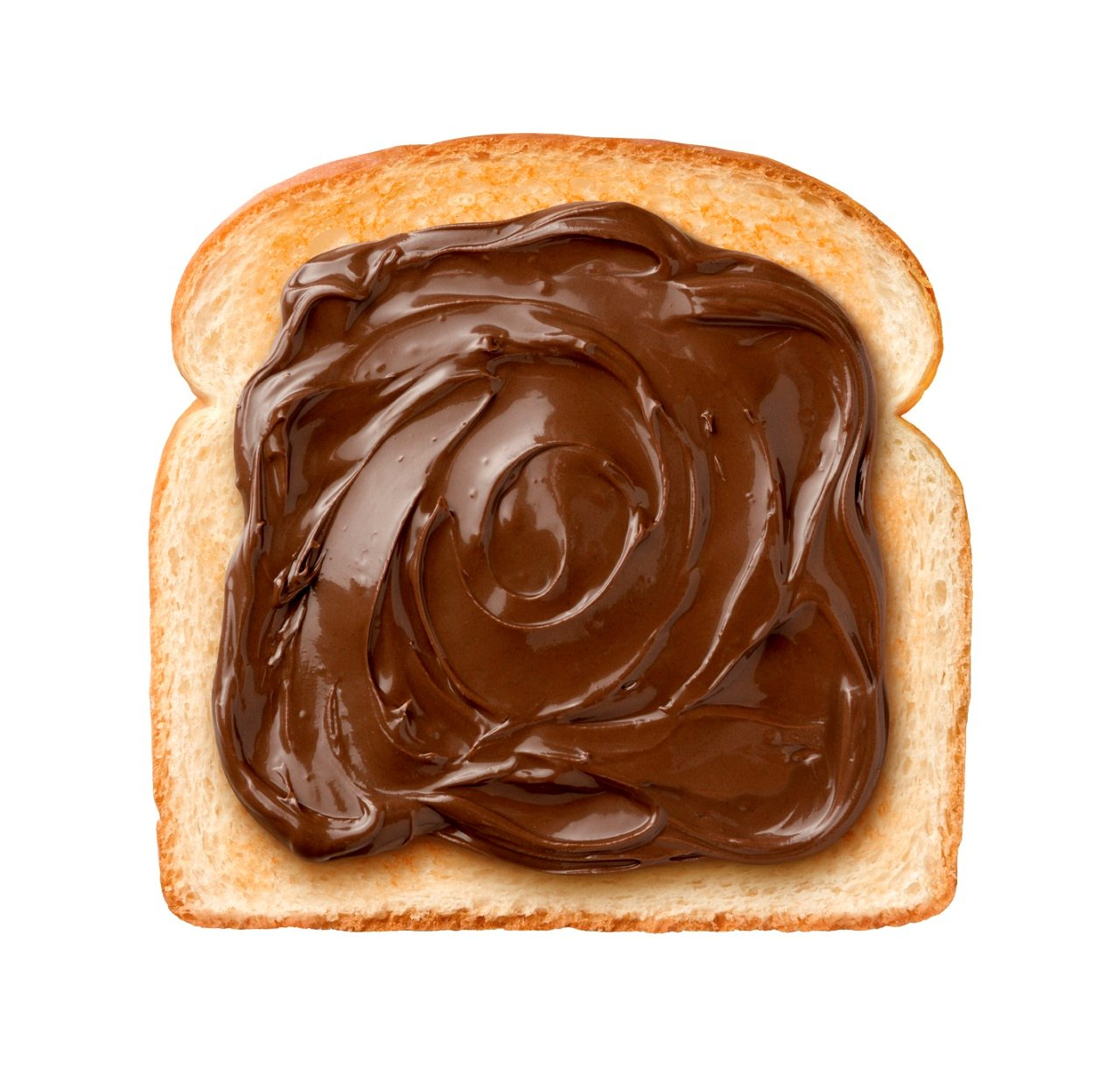 chocolate, spread, toast, crust, swirl, breakfast, bread, brown, nutella, sweet, snack, food, tasty, slice, dessert, creamy, calories, hazelnut, sandwich, delicious, cocoa, nougat, nutrition, eat, isolated, isolated on white, closeup, object, nobody, white background, cut out, studio shot, single object, ingredient, portion,