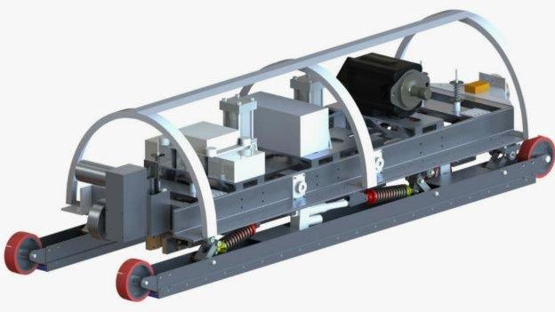 desenho do MIT cápsula do Hyperloop