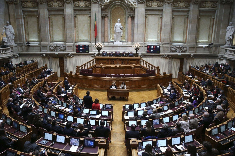 Sessão plenária na Assembleia da República