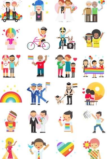 pride collection facebook emojis 2