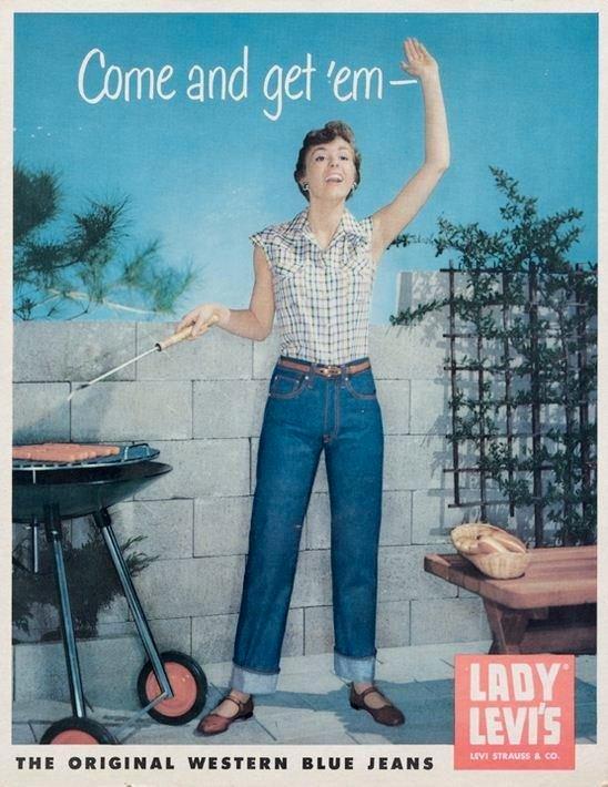 anuncio jeans lady levis 50