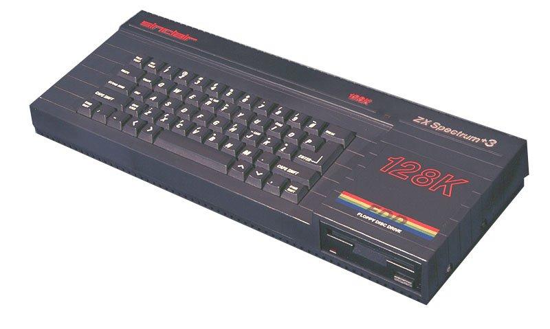 O último modelo ZX Spectrum a ser produzido tinha uma drive para disquetes de 3 polegadas.