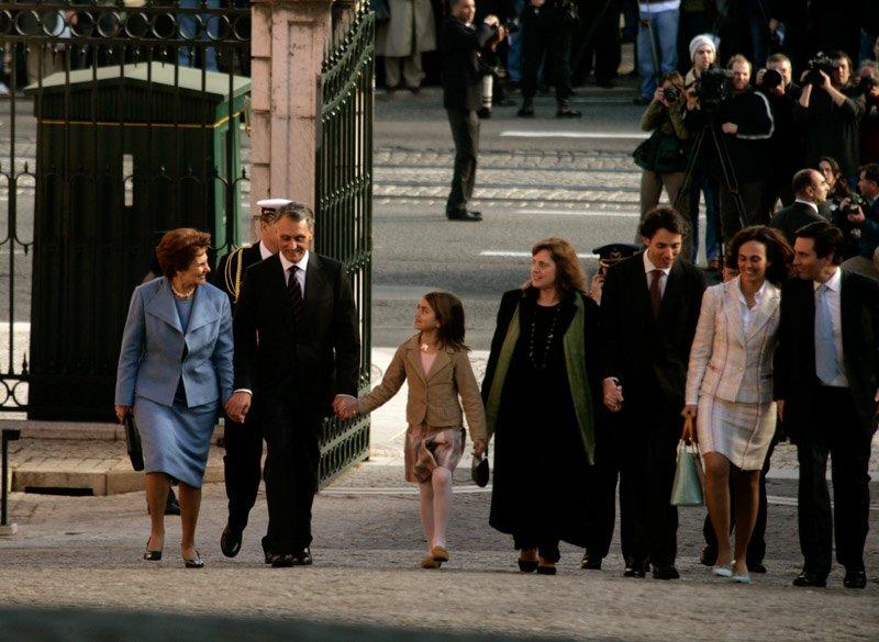 Dia da posse do primeiro mandato a entrar em Belém com a família