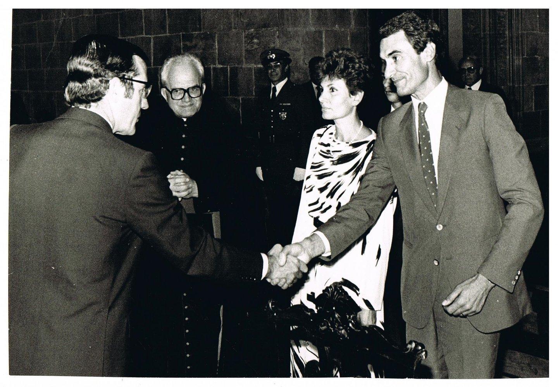 Cavaco Silva com Ramalho Eanes