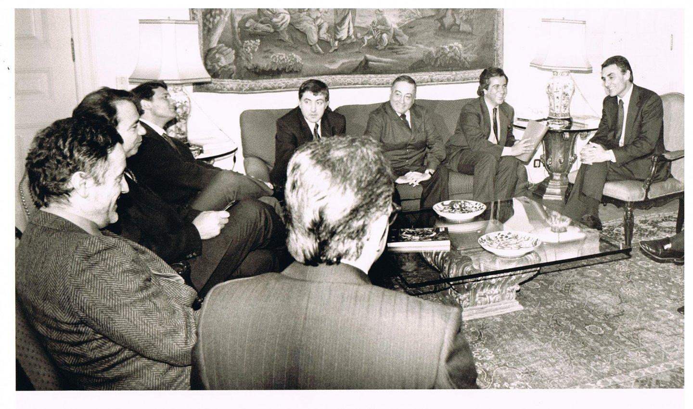Cavaco reunido com sindicalistas