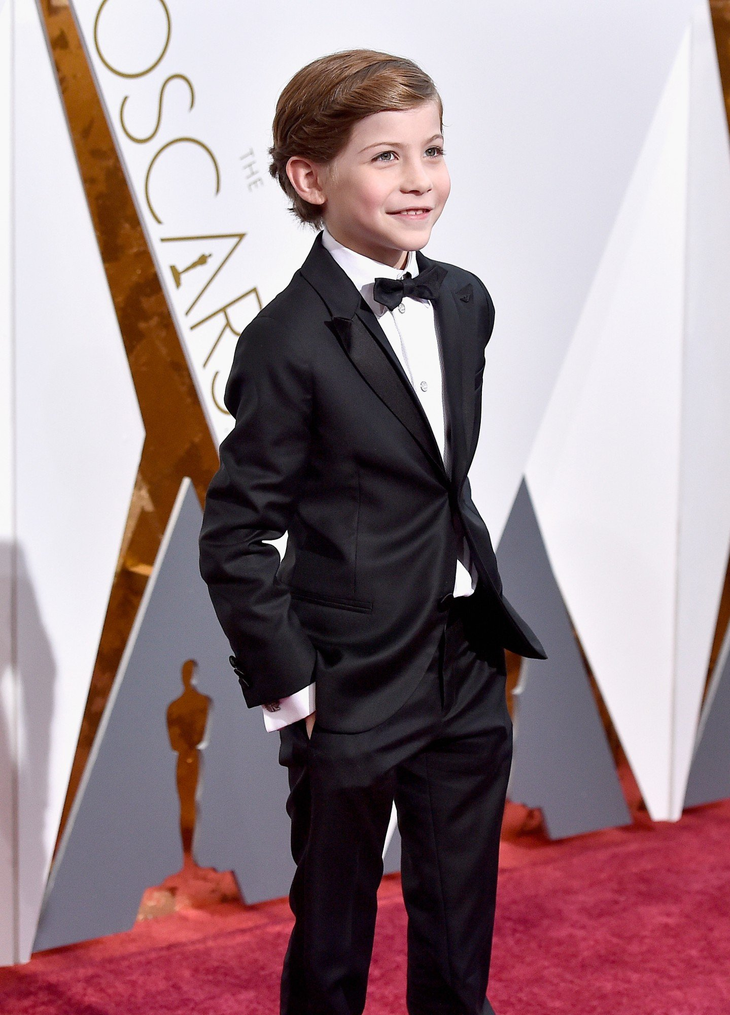 HOLLYWOOD, CA - FEBRUARY 28: Actor Jacob Tremblay attends the 88th Annual Academy Awards at Hollywood & Highland Center on February 28, 2016 in Hollywood, California. (Photo by Kevork Djansezian/Getty Images)