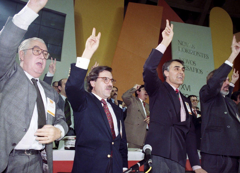CONGRESSO, PARTIDO SOCIAL DEMOCRATICO, MANUEL DIAS LOUREIRO, An?bal Cavaco Silva, FERNANDO NOGUEIRA, FALCAO E CUNHA, Europhoto,