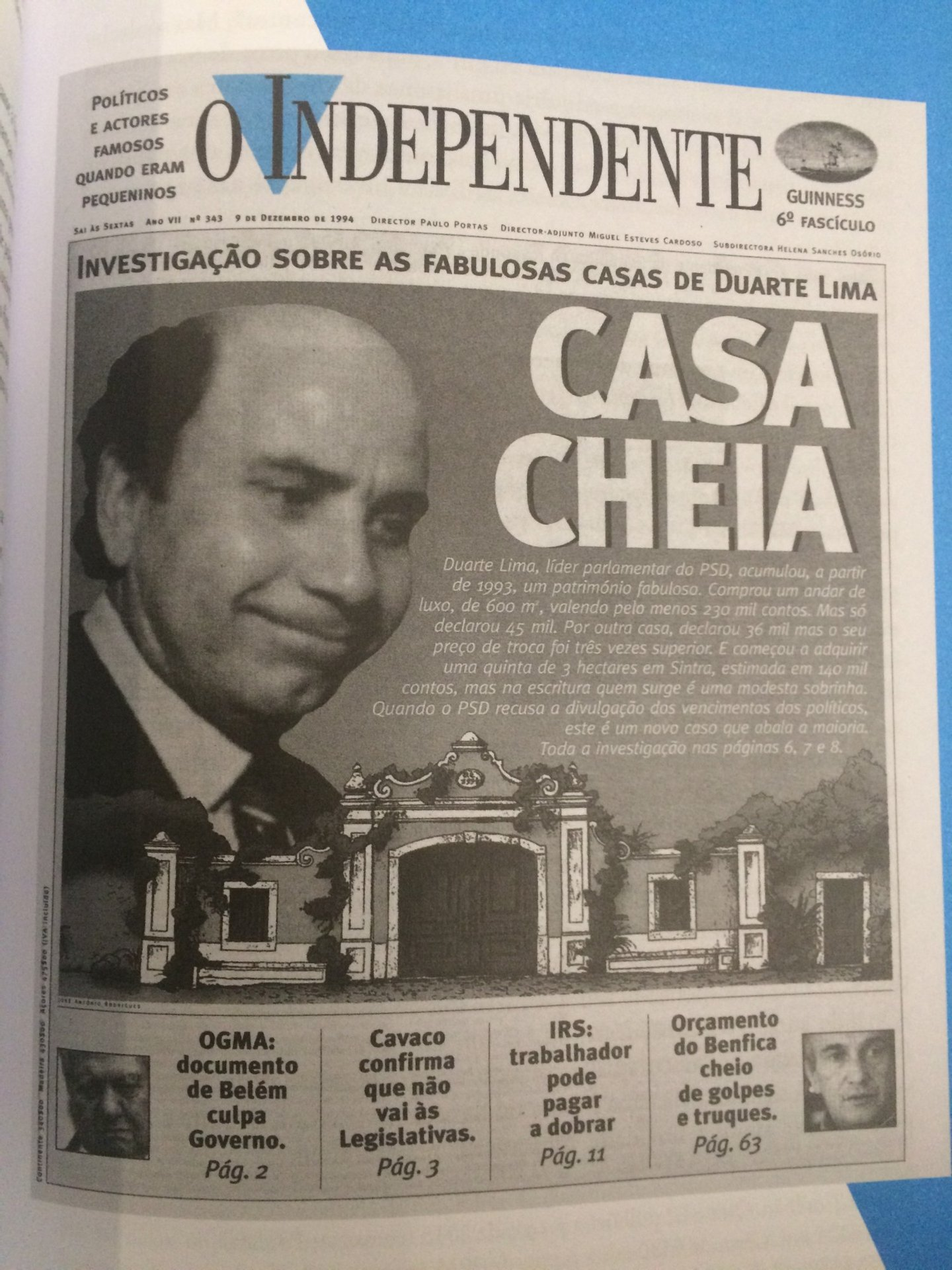Duarte Lima in O Independente a Máquina de triturar políticos