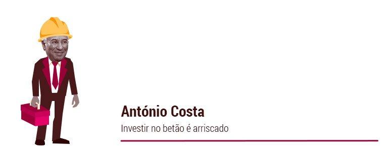 António Costa: Investir no betão é arriscado