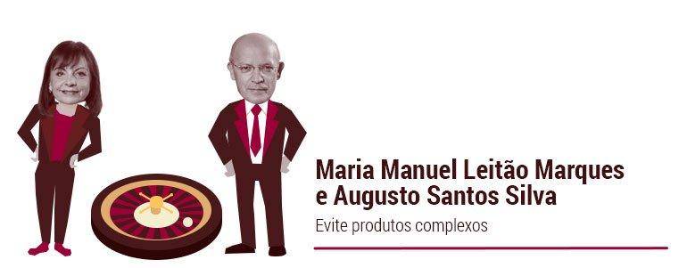Maria Manuel Leitão Marques e Augusto Santos Silva: Evite produtos de casino