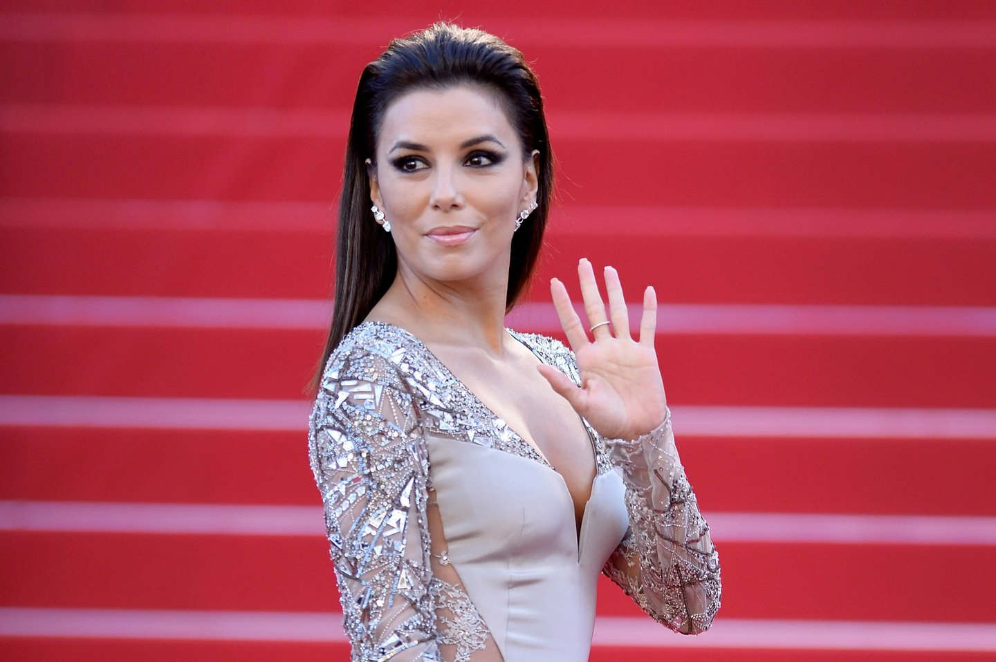 "CANNES, FRANCE - MAY 18: Eva Longoria attends the Premiere of ""Inside Out"" during the 68th annual Cannes Film Festival on May 18, 2015 in Cannes, France. (Photo by Pascal Le Segretain/Getty Images)"
