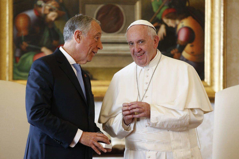 Horizontal, Marcelo presidente da REpública papa francisco vaticano 17 de março