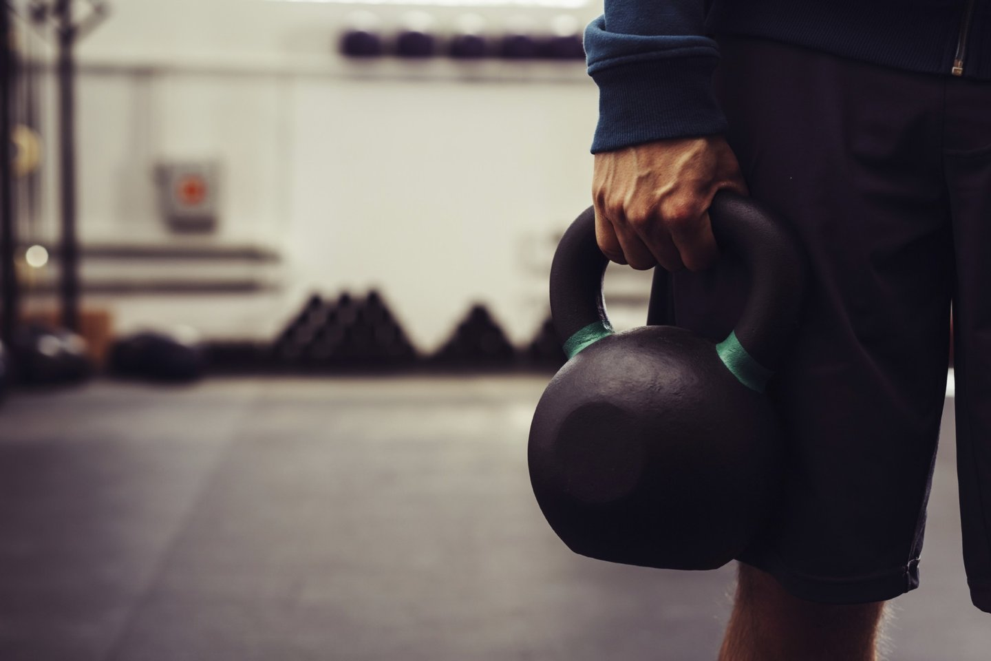 Exercise, Recreational Pursuit, activity, caucasian, closeup, cross, cross training, crossfit, dark, fit, fitness, grab, gym, holding, indoors, kettlebell, male, man, one person, people, sport, sport activity, strong, training, weight, weightlifting, workout,