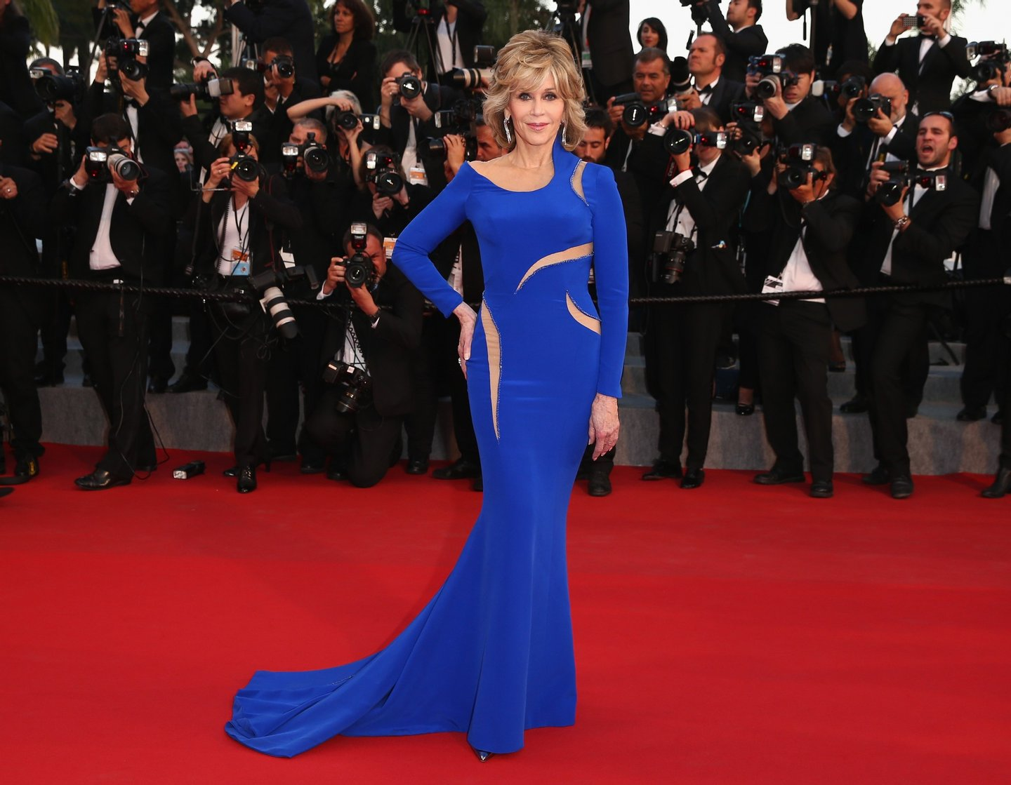 """CANNES, FRANCE - MAY 16: Jane Fonda attends the Premiere of """"The Sea Of Trees"""" during the 68th annual Cannes Film Festival on May 16, 2015 in Cannes, France. (Photo by Andreas Rentz/Getty Images)"""