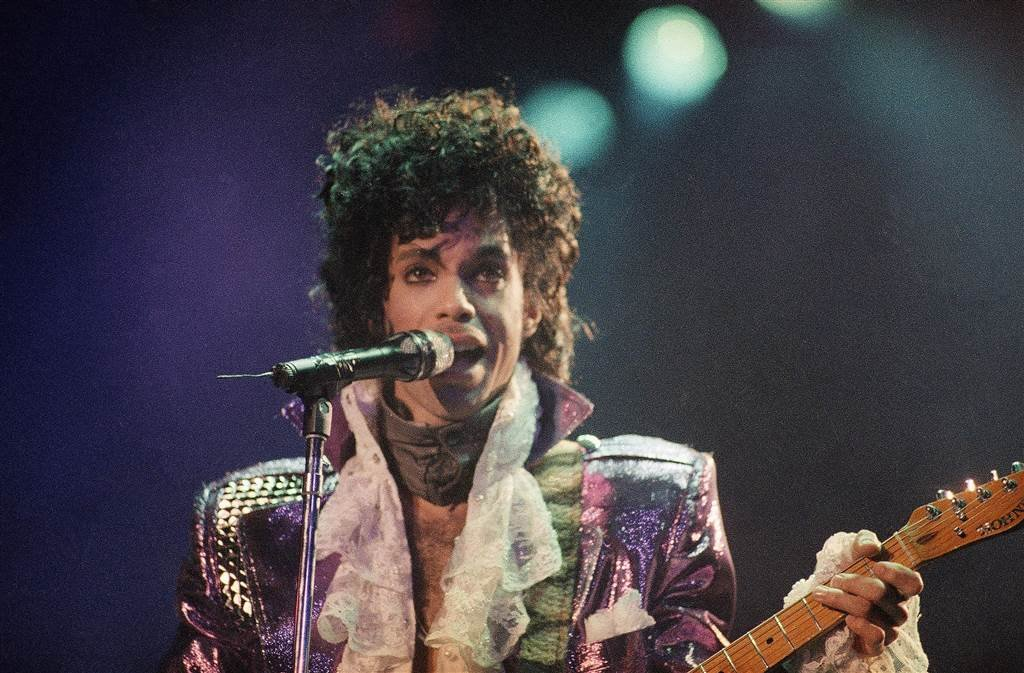 Prince performs at the Forum in Inglewood, Calif., on Feb. 18, 1985 - AP