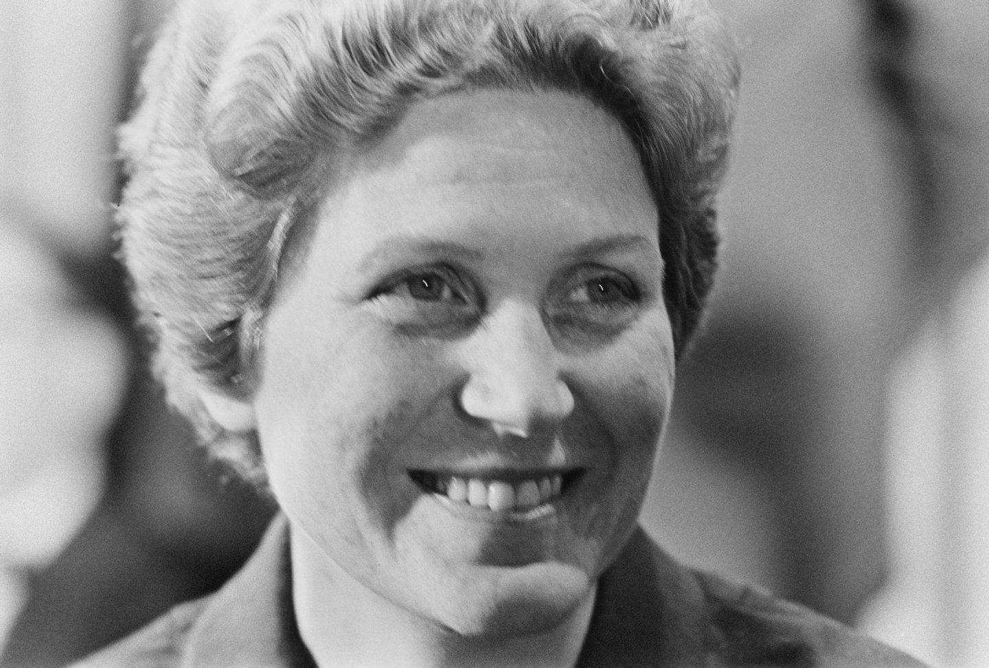 Svetlana Alliluyeva, the daughter of Joseph Stalin, at a press conference in New York City, USA, 1967. (Photo by Harry Benson/Express/Hulton Archive/Getty Images)