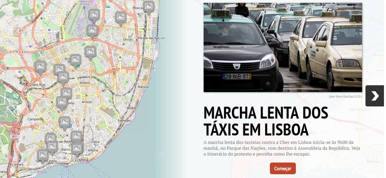 mapa uber