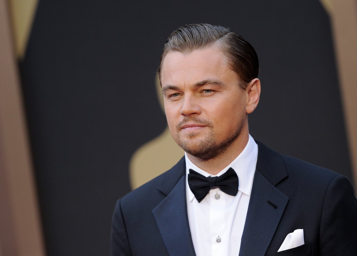HOLLYWOOD, CA - MARCH 02: Actor Leonardo DiCaprio arrives at the 86th Annual Academy Awards at Hollywood & Highland Center on March 2, 2014 in Hollywood, California. (Photo by Axelle/Bauer-Griffin/FilmMagic)
