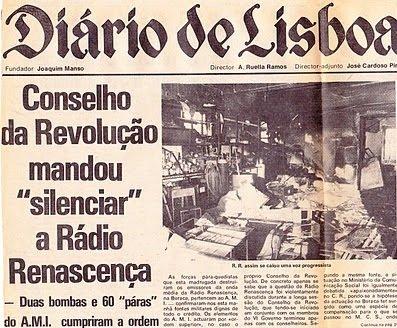 A 7 de novembro de 1975, o Conselho da Revolução manda destruir os emissores da Buraca da Renascença.