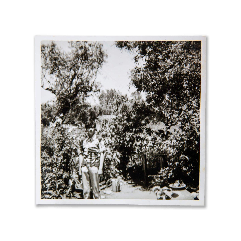 Mário Nogueira brinca com o padrão florestal da camisa que envergava nesta fotografia de adolescente (D.R.)