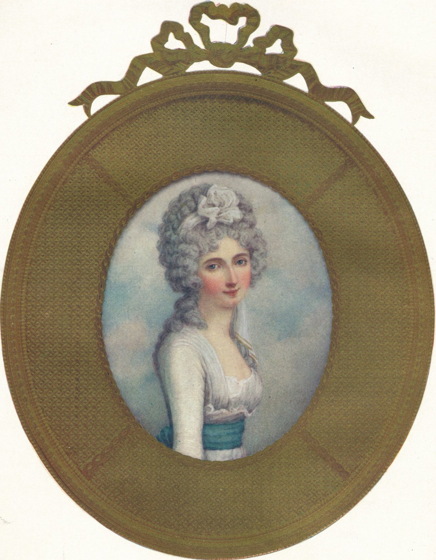 Miniature Portrait of Katherine, Lady Manners, Later Lady Huntingtower, 1787. From The Connoisseur Vol. XVIII [Otto Limited, London, 1907.] Artist: Richard Cosway (Photo by The Print Collector/Getty Images)