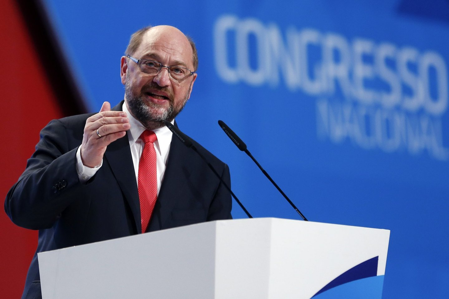 Martin Schulz in socialist congress