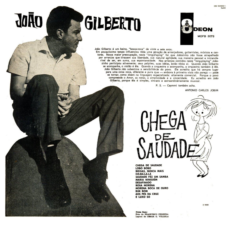 João Gilberto - Chega de Saudade (1959) CapaLPBack