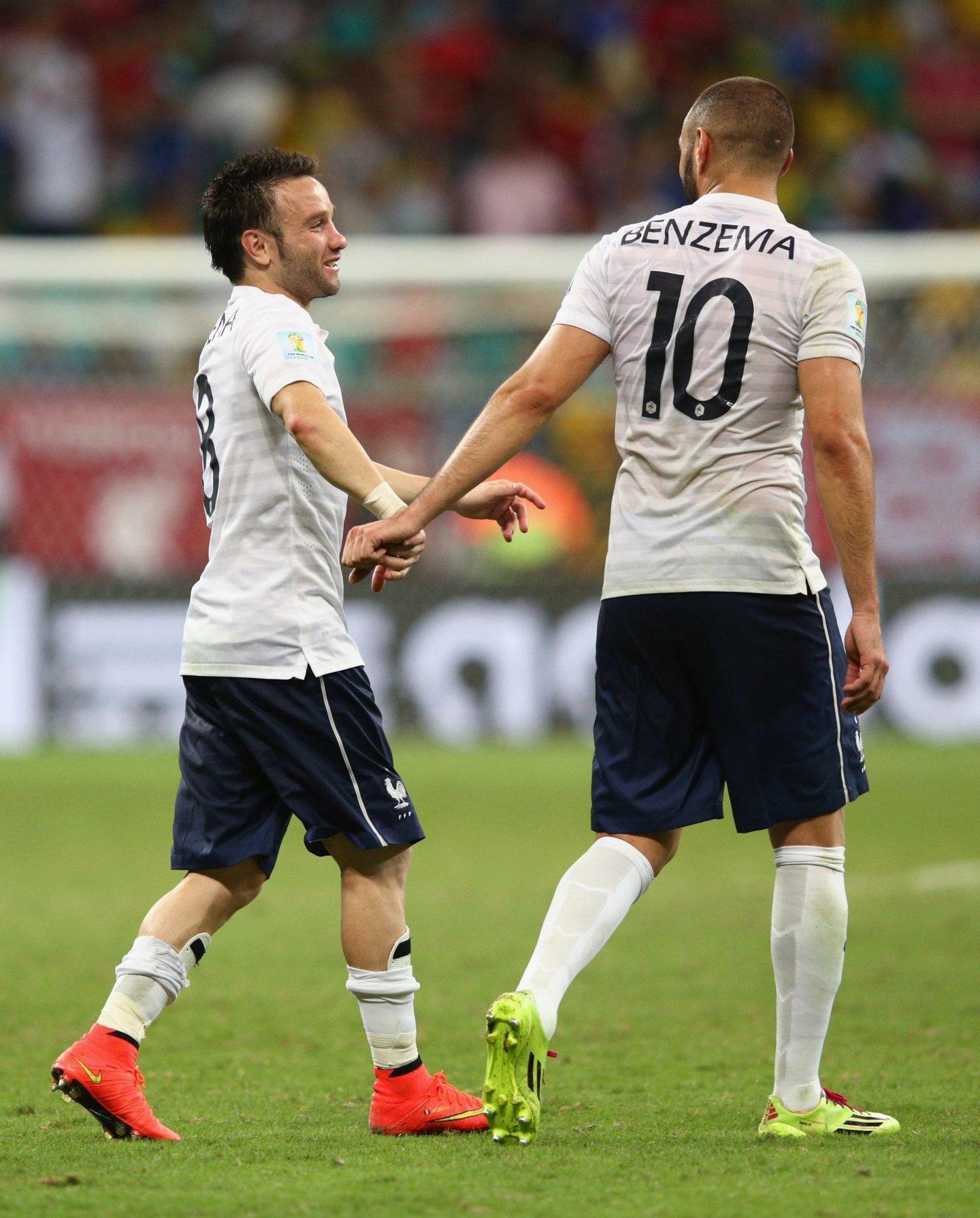 Mathieu Valbuena e Karim Benzema. Tão amigos que eles eram... (Créditos: Adam Pretty/Getty Images)