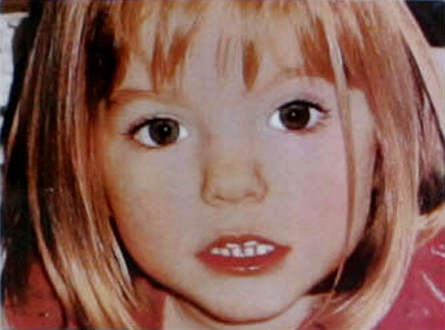 Lagos, PORTUGAL: A poster displaying the front page of the British newspaper The Sun shows 05 May 2007 a picture of three-year old British girl Madelaine McCann who went missing at the Ocean club apartment hotel in Praia de Luz , in Lagos. A team of three British police detectives arrived in Portugal today to help track down a suspected kidnapper believed to have abducted a British toddler. AFP PHOTO/- NO SALES (Photo credit should read -/AFP/Getty Images)