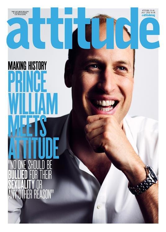 Príncipe William revista gay