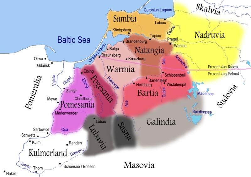 Tribos balto-prussianas, no século XIII