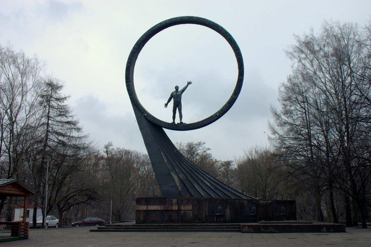 Monumento ao programa espacial russo, em Kaliningrad