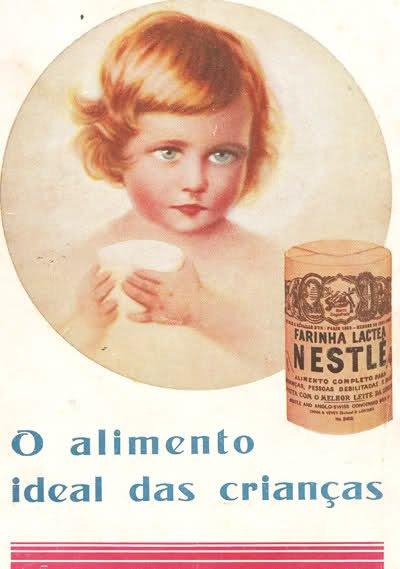 As farinhas lacteas da Nestlé foram trazidas para Portugal pelo médico Egas moniz