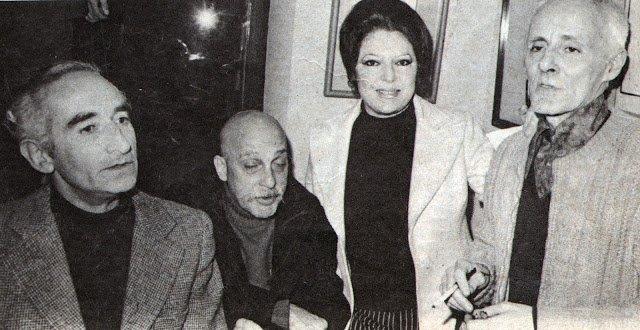 Mário Henrique leiria já bastante debilitado, com os amigos de sempre Cruzeiro seixas e Mário Cesariny e Natália Correia