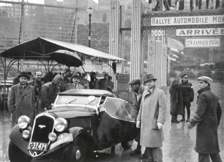 O roadster Popular brilhou no Rali de Monte Carlo em 1936